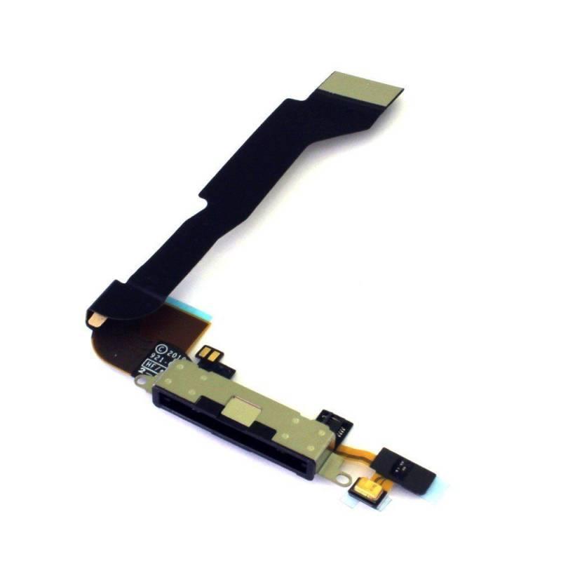 Flex de Carga Conector Dock iPhone 4G Negro