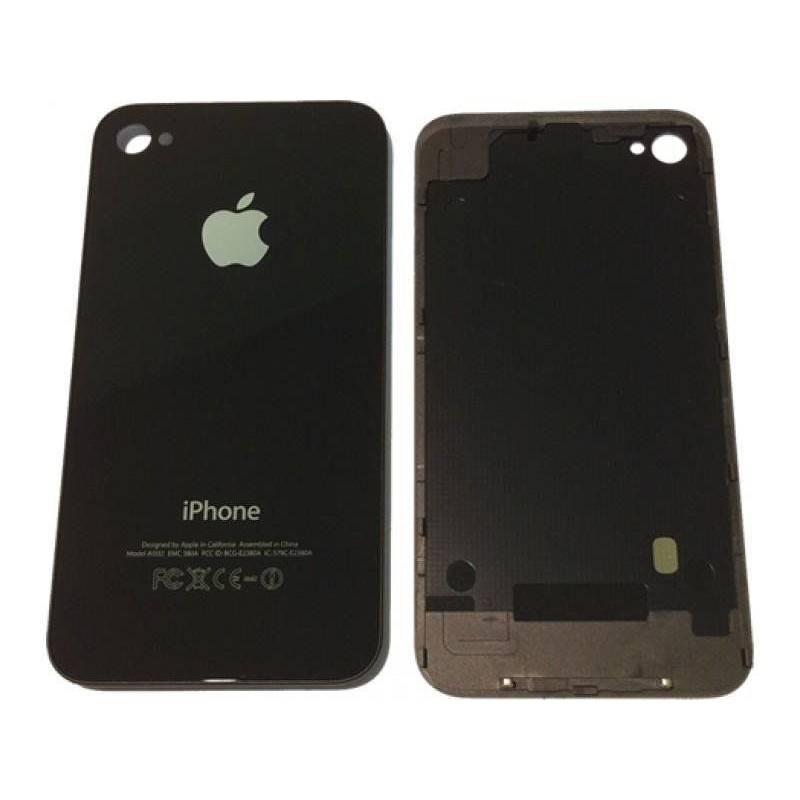 Tapa Trasera Cristal iPhone 4. Negra