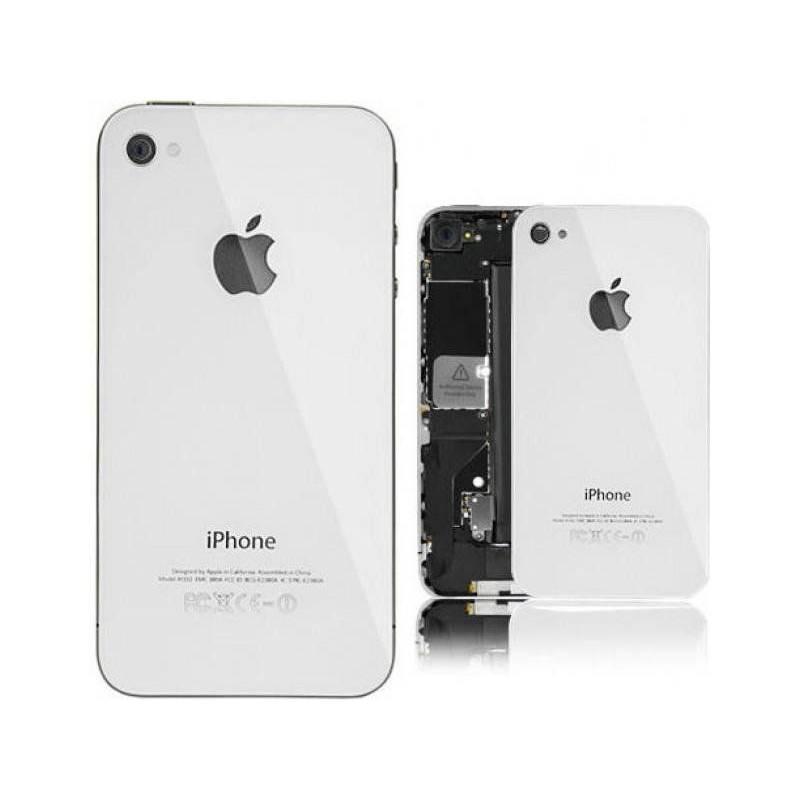 Tapa Trasera Cristal iPhone 4 Blanca