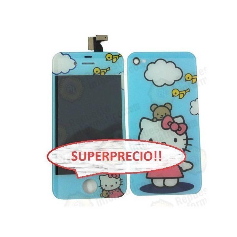 kit iPhone 4G HELLO KITTY Azul