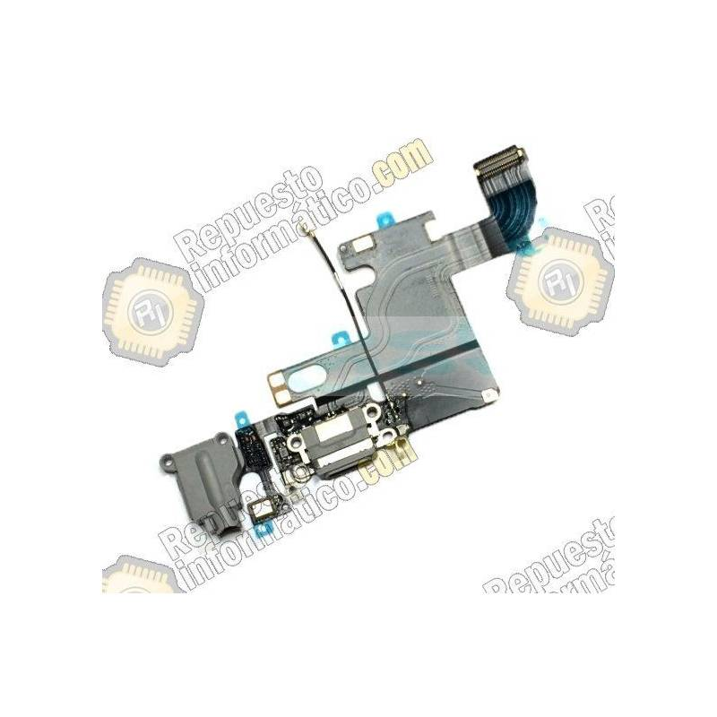 "Flex Conector Carga + Micro Apple iPhone 6 (4.7"") (Gris)"