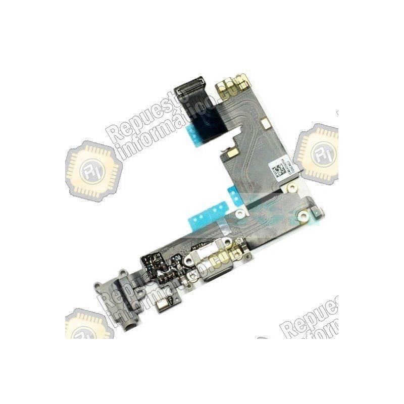 """Flex Conector Carga + Micro Apple iPhone 6plus (5.5"""") (Gris)"""