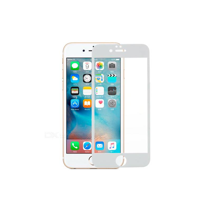 Cristal Templado 3D, Blanco iPhone 6S