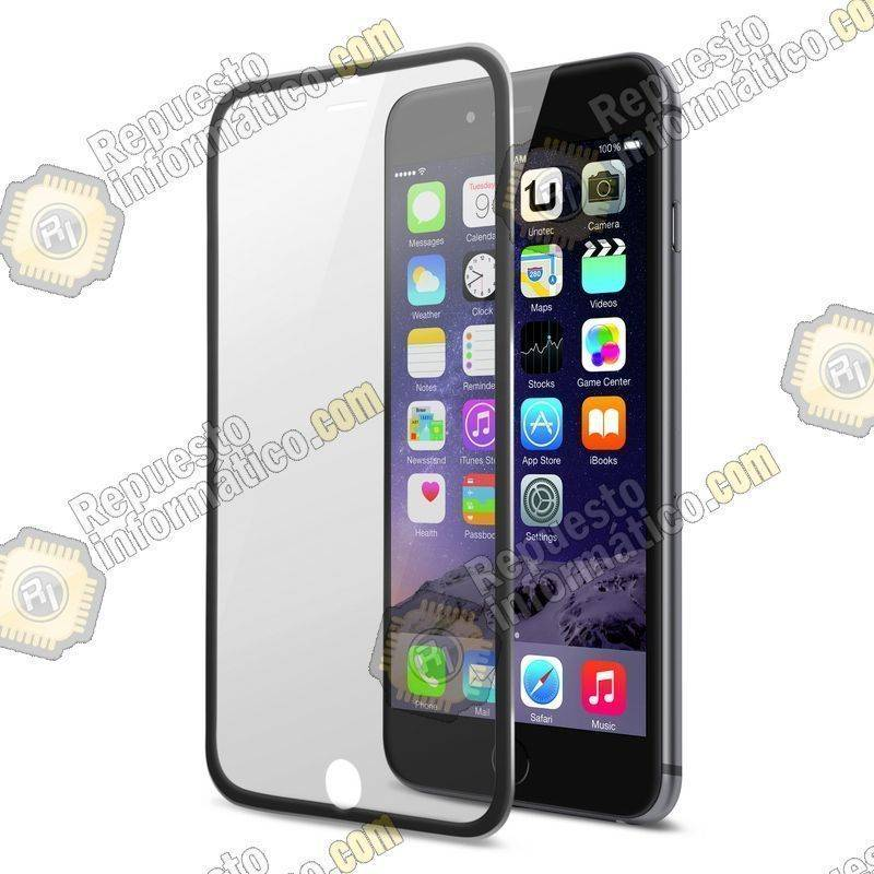 "Cristal Templado Borde Fino, Negro iPhone 6S Plus (5.5"")"
