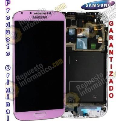 Pantalla (lcd+táctil+marco) Samsung Galaxy S4 Rosa i9505 Directa de Fábrica