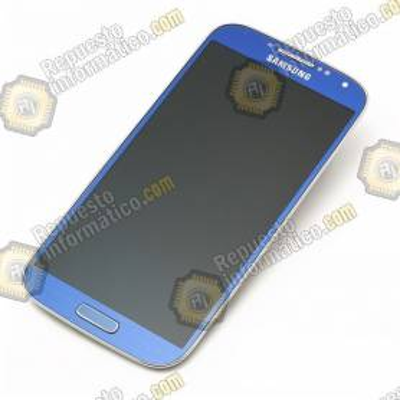 Pantalla (lcd+tactil+marco) frontal Samsung Galaxy S4 Azul (directo de fabrica) i9500