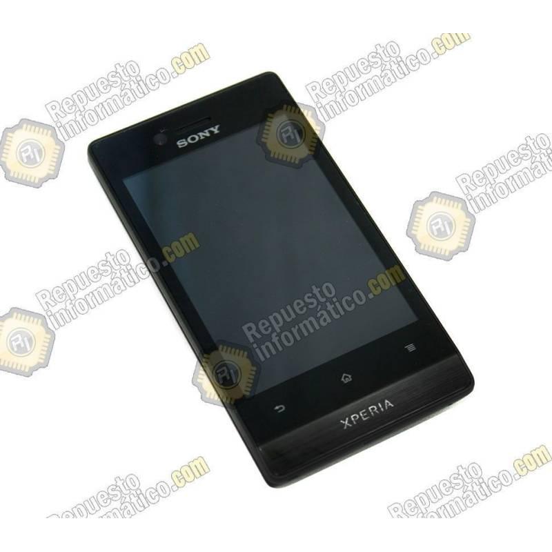 Pantalla (LCD+Táctil+Marco) Xperia Miro st23i Negra