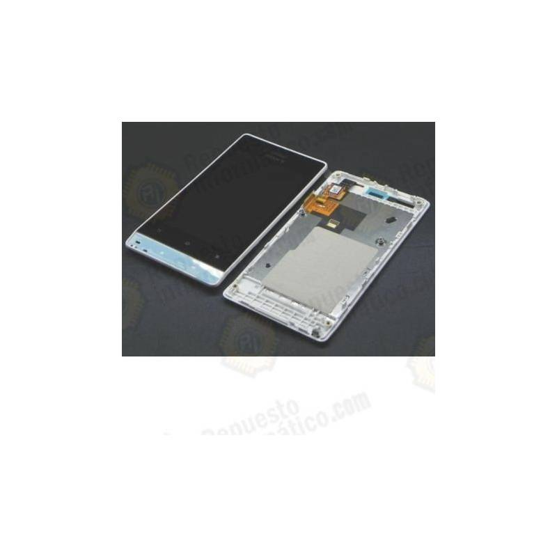 Pantalla (Lcd+tactil+marco) Xperia Miro st23i blanco