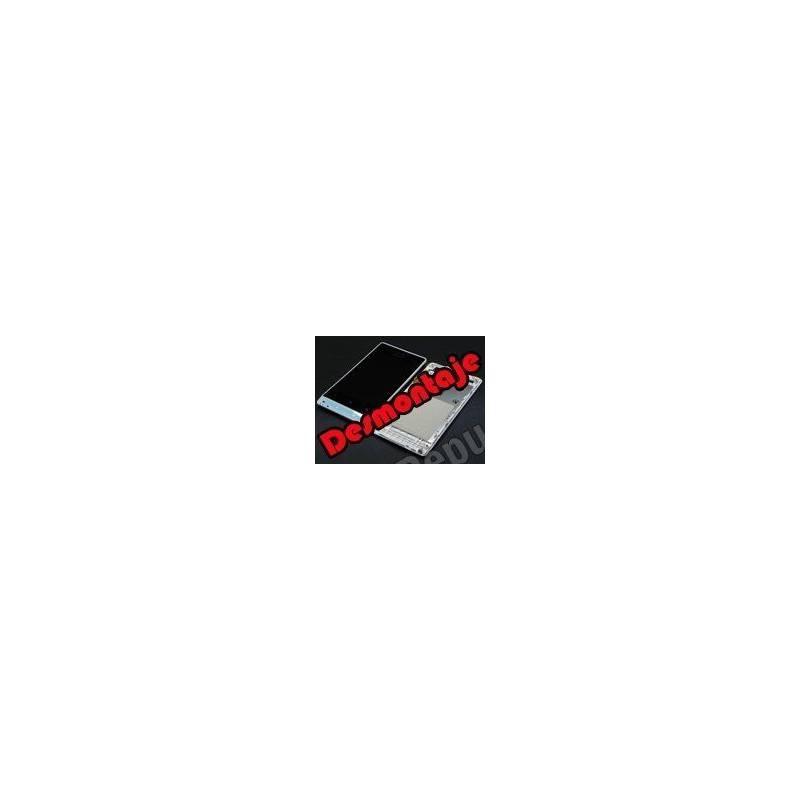 Pantalla (Lcd+tactil+marco)Xperia Miro st23i blanco (DESMONTAJE)