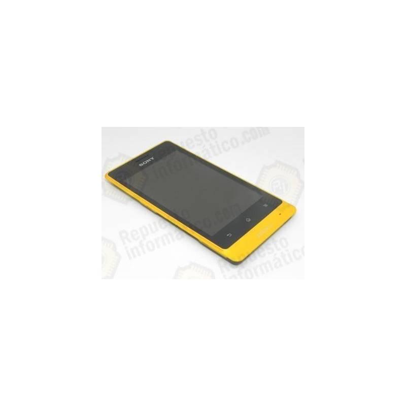 Pantalla (LCD+Táctil+Marco) Xperia go Amarillo (nueva)