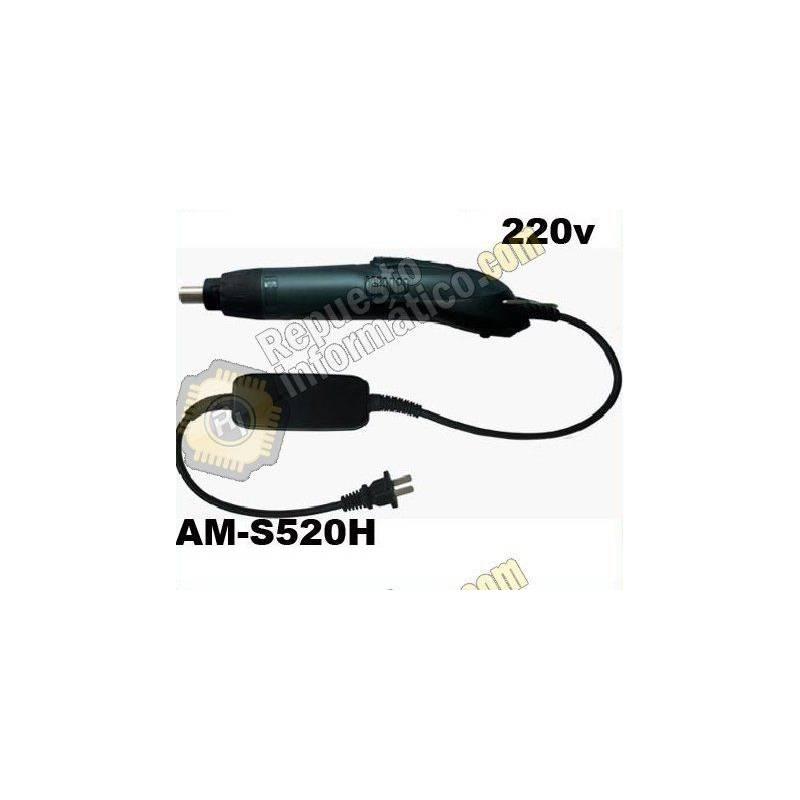 Destornillador eléctrico con puntas intercambiables