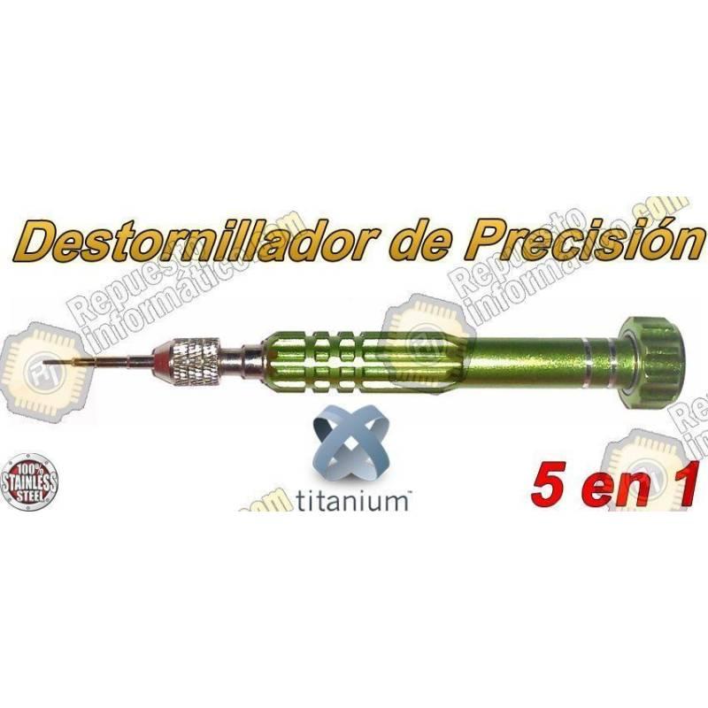 Destornillador de Precisión Imantado 5 en 1 Verde