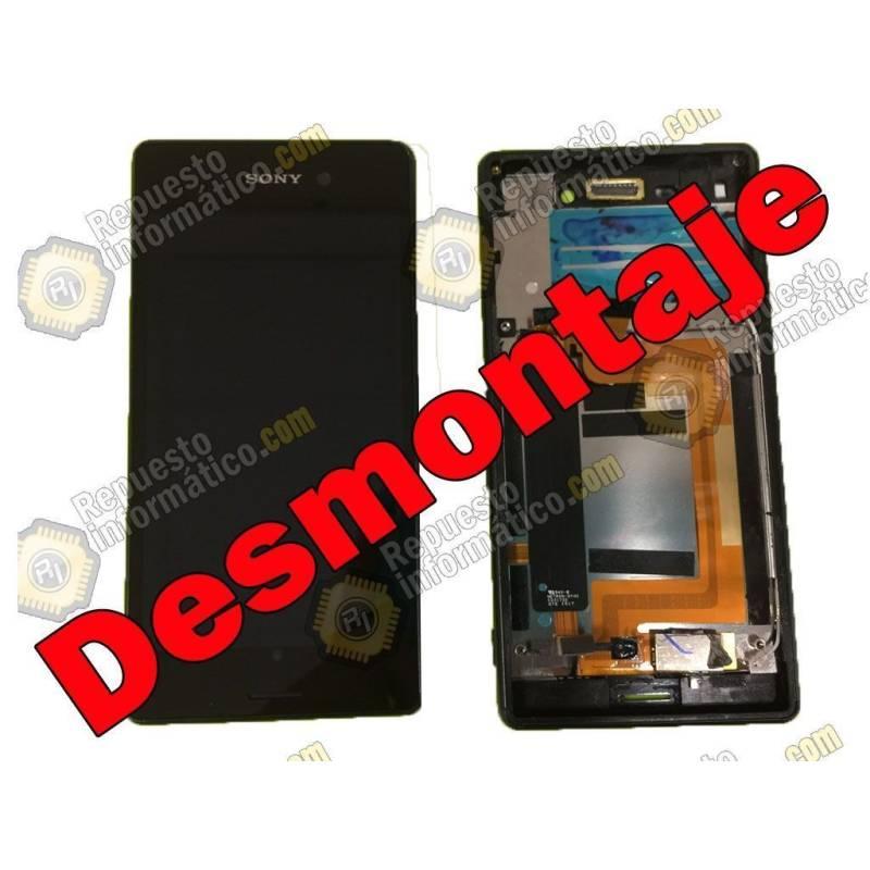 Pantalla (LCD+Táctil+Marco) Xperia M4 Aqua Negra (Swap)