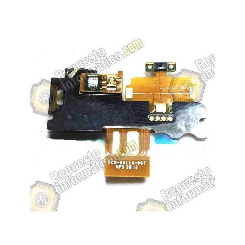 Flex de power on/off Sensor de proximidad para Blackberry Z30