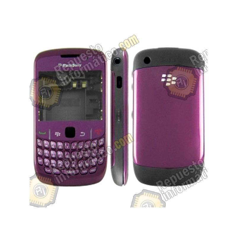 Carcasa Morada Completa para Blackberry 8520