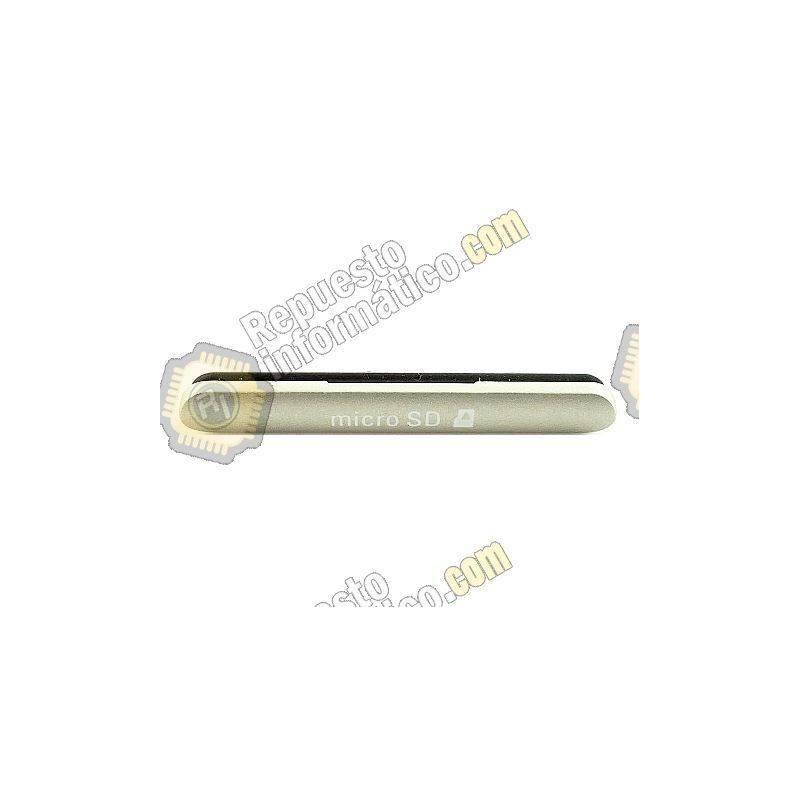 Tapa Micro SD Blanca Xperia M4 Aqua E2303
