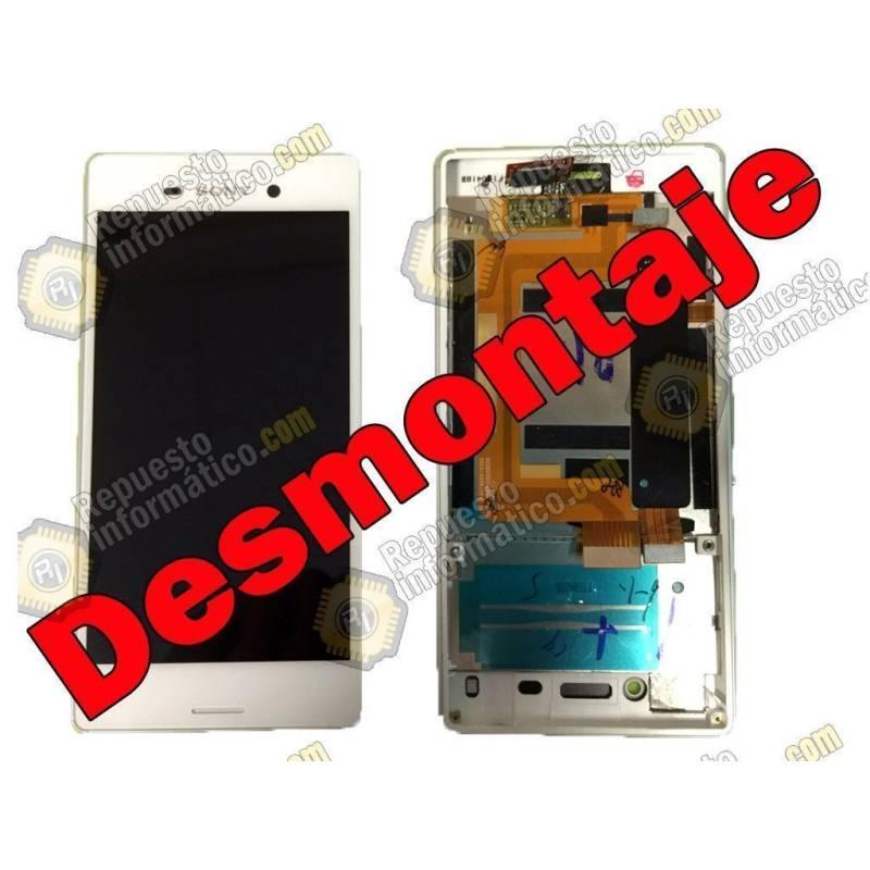 Pantalla (LCD+Táctil+Marco) Xperia M4 Aqua Blanca (Swap)