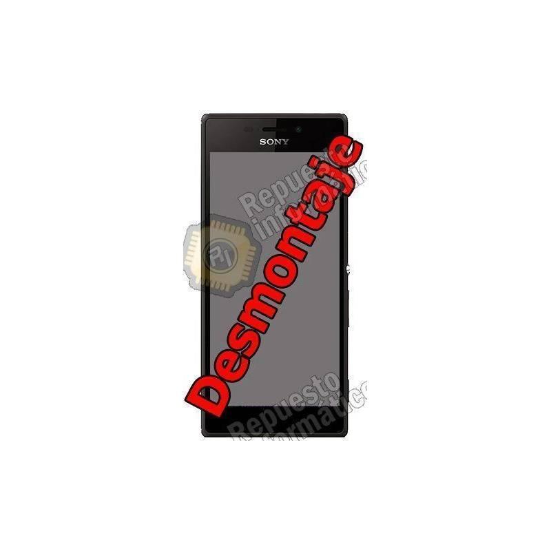 Pantalla (LCD+Táctil+Marco) Xperia M2 Aqua (Swap) (Negra)