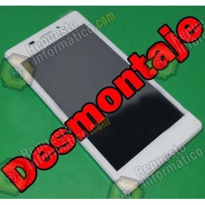 Pantalla (LCD+Táctil+Marco) Xperia M2 Aqua (Swap) (Blanca)