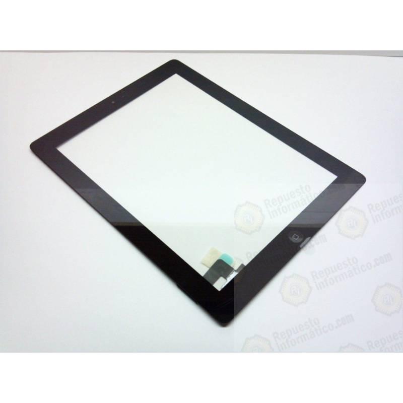 Pantalla Táctil iPad 2 Completa con Pegatinas y Botón Home Negra