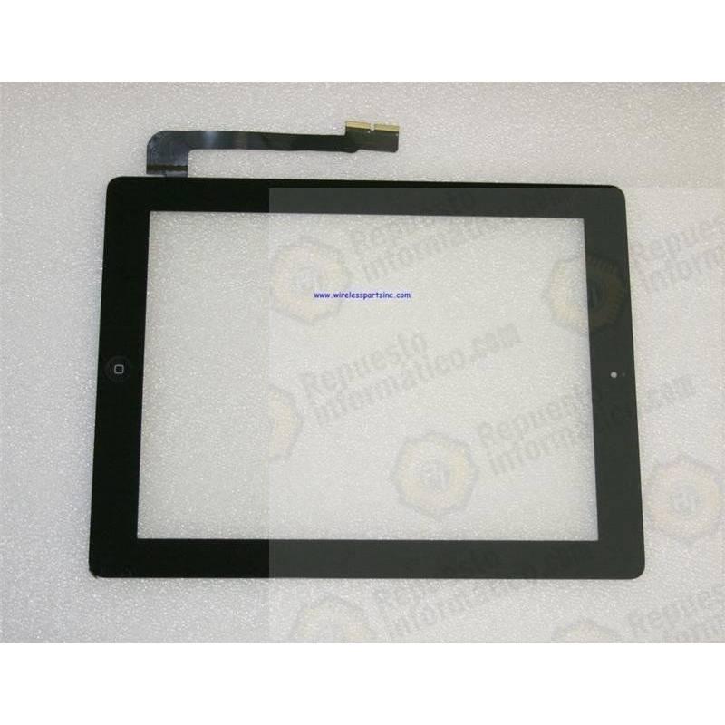 Táctil Completo iPad 3 con Botón Home y Pegatinas Negro