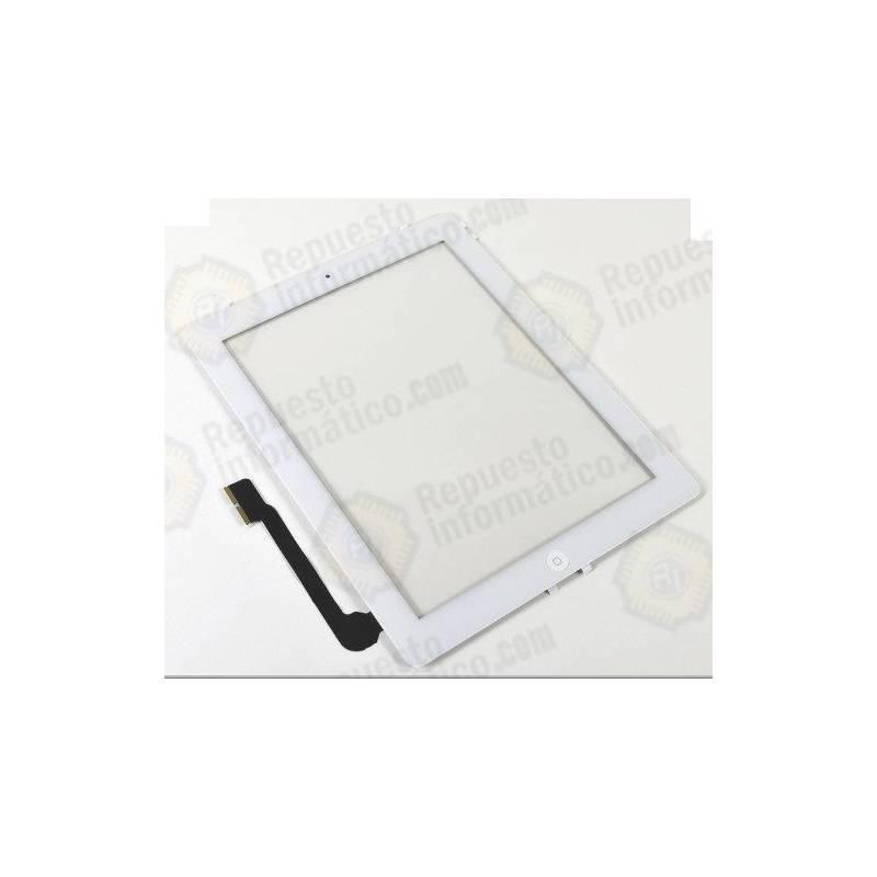 Táctil Completo iPad 3 con Botón Home y Pegatinas Blanco