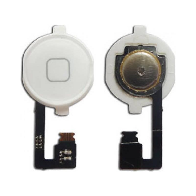Botón Home + Cable Flex para iPhone 4 Blanco