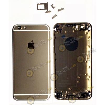 """Tapa trasera dorada chasis + botones para iphone 6G (4.7"""") Repuesto compatible"""