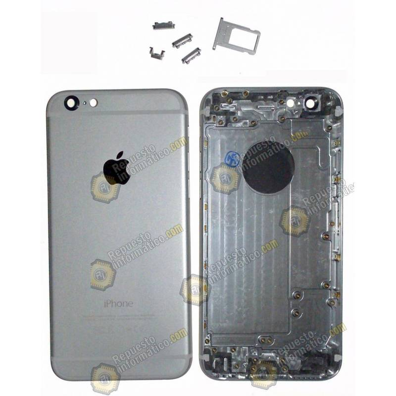 Carcasa Chasis + Botones para iPhone 6G color gris