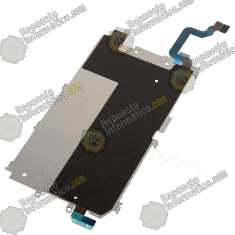 "Placa Metalica Soporte LCD + Cable Flex Botón Home iPhone 6 4,7"" swap"