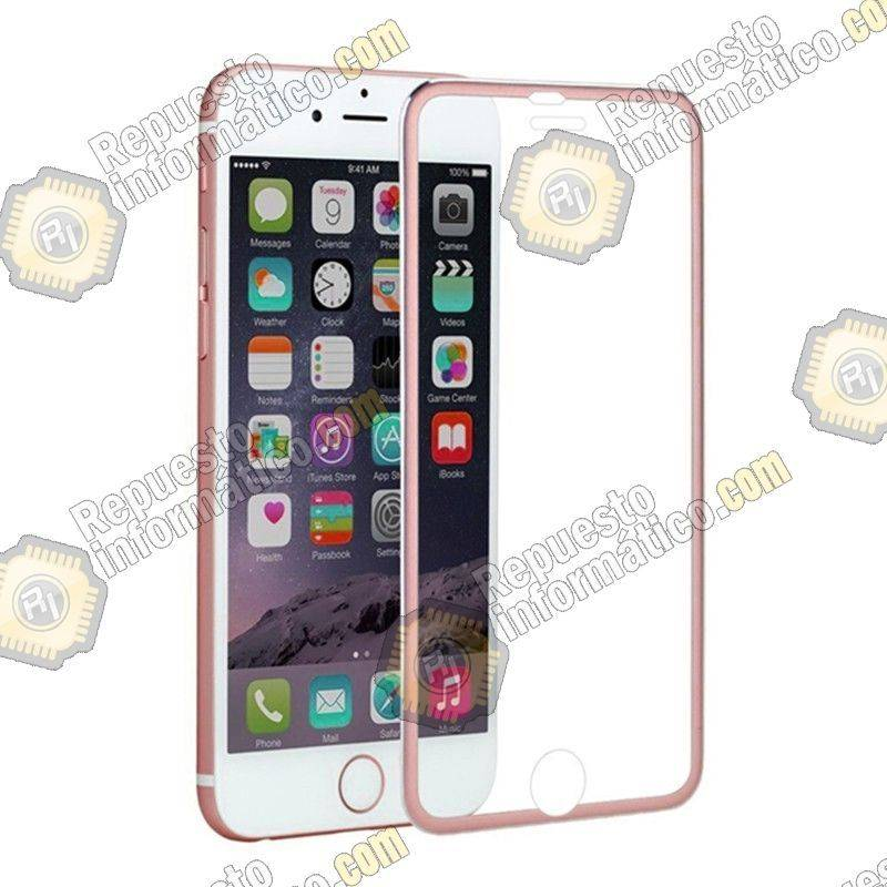"Cristal Templado Borde Fino iPhone 6S (4.7"") (Rosa)"