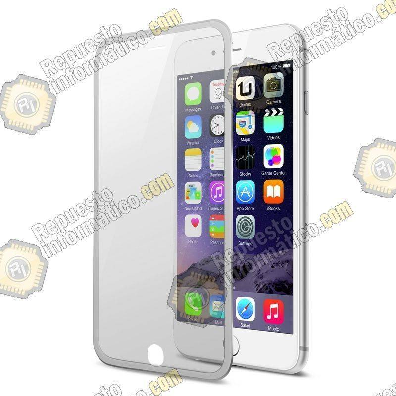 "Cristal Templado Borde Fino, Plata iPhone 6S Plus (5.5"")"