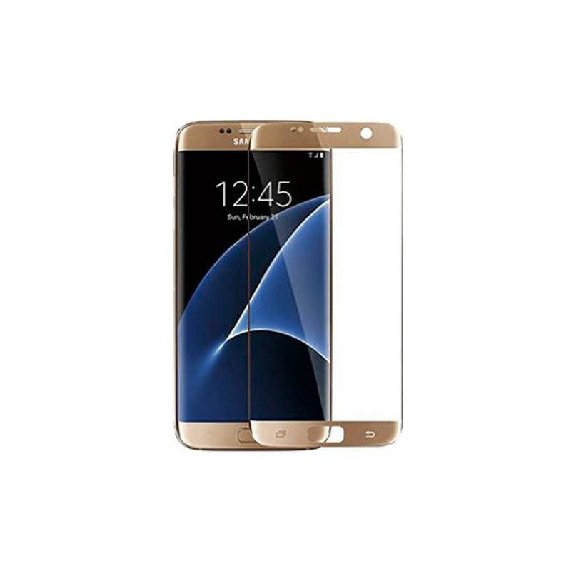 Cristal Templado 3D Dorado Galaxy S7 Edge