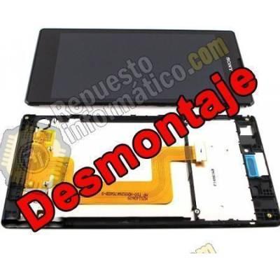 Pantalla (LCD+Táctil+Marco) Xperia T3 (Negra) Remanofacturada