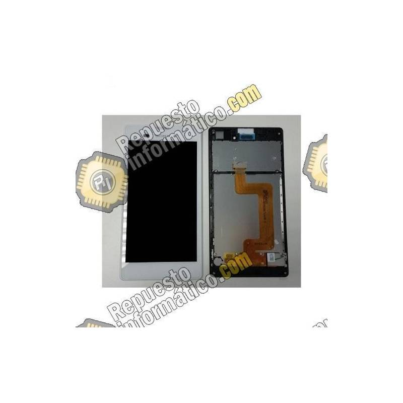 Pantalla (LCD+Táctil+Marco) Xperia T3 (Blanca) Swap