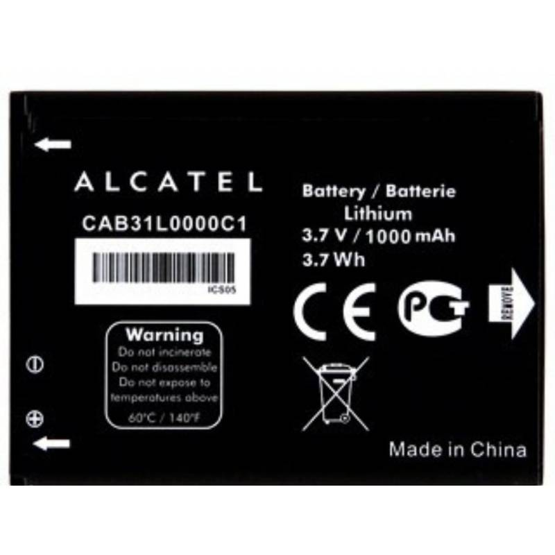BATERIA ALCATEL ORIGINAL CAB31L0000C1 PARA ALCATEL ONE TOUCH 2004G 2004C