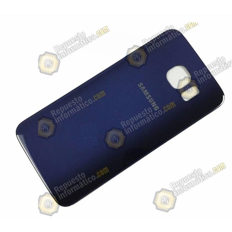 Tapa Trasera de Cristal Azul Galaxy G925 (S6 Edge)Swap
