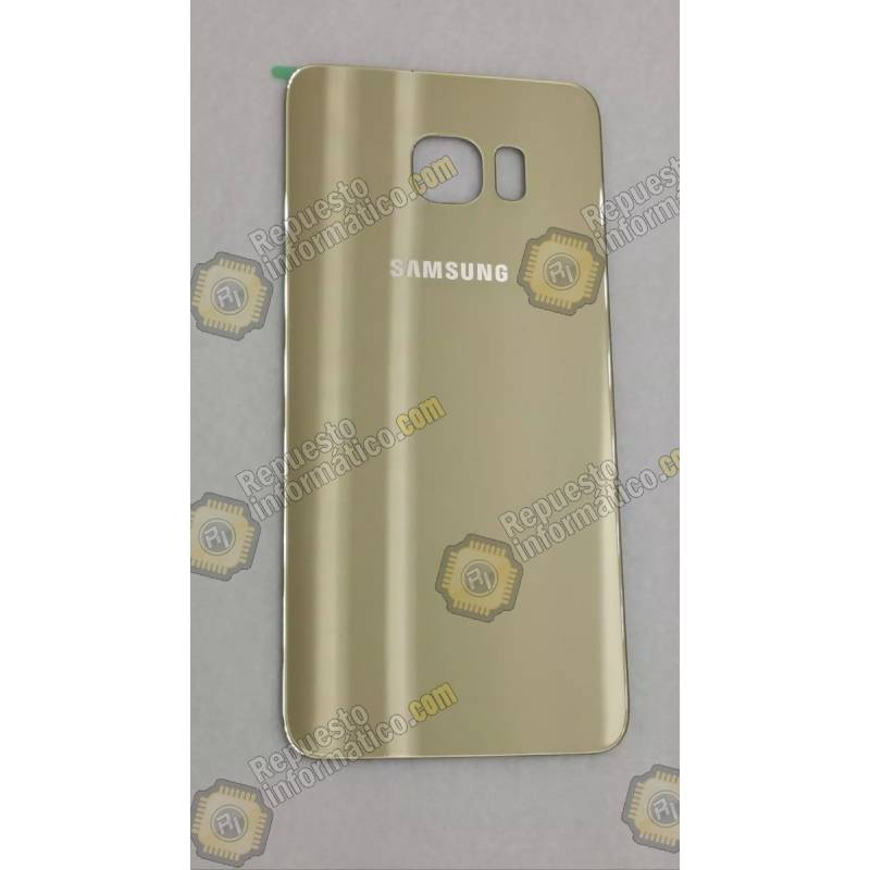 Tapa Trasera de Cristal champagne Galaxy G925 (S6 Edge) (Swap)