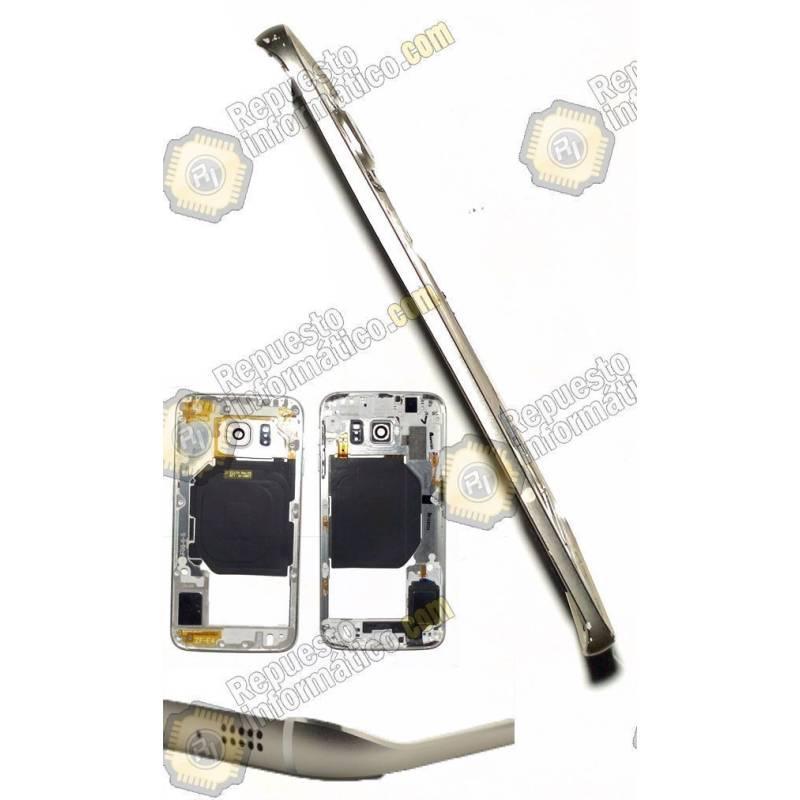 intermedio Dorado Galaxy S6 Edge (G925) +Buzzer+NFC y Botones (Swap)