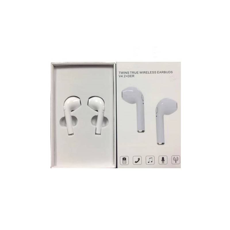 Auriculares Earpod I7 Bluetooth White