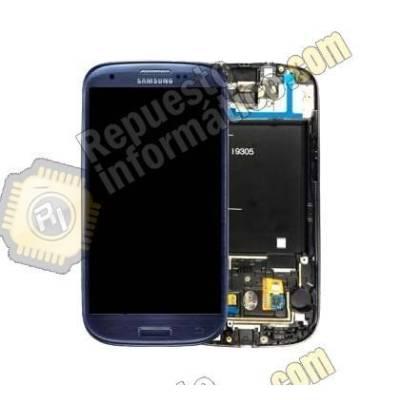 Pantalla (Lcd+tactil) Galaxy S3 LTE (i9305) (Azul) (directo de fabrica) 100% Testeada