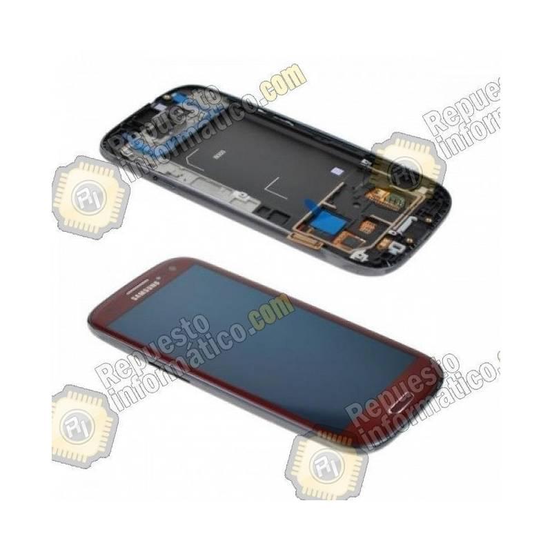 Pantalla (LCD+Táctil+Marco) Galaxy S3 i9300 Roja (directo de fabrica) 100% Testeada
