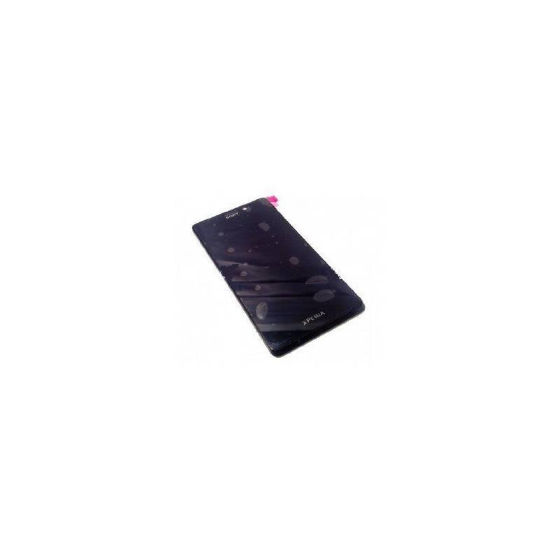 Pantalla (tactil+lcd+marco) Sony Xperia T Lt30 Mint negro