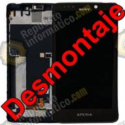 Pantalla (LCD+Táctil+Marco) Sony Xperia T Lt30 Mint Negro (Swap)