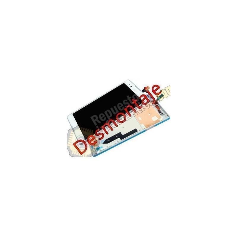 Pantalla (LCD+Táctil+Marco) Blanca Xperia T2 ULTRA D5322 (Swap)