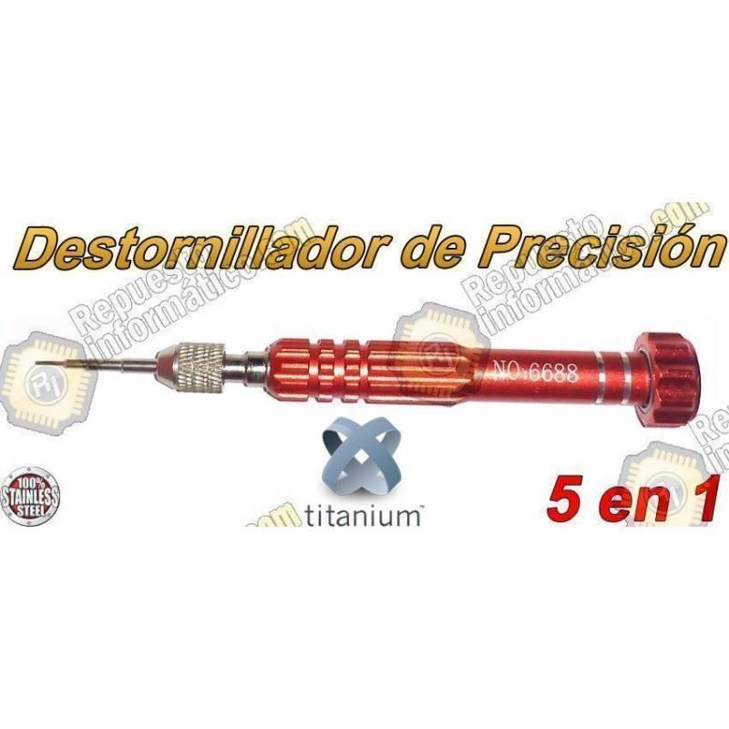 Destornillador de Precisión Imantado 5 en 1 Rojo