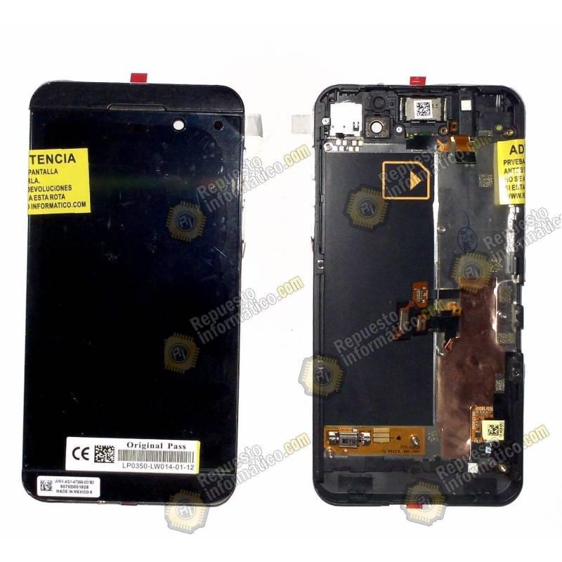 Pantalla Original (LCD+Táctil+Marco) Negra Blackberry Z10 version 4G