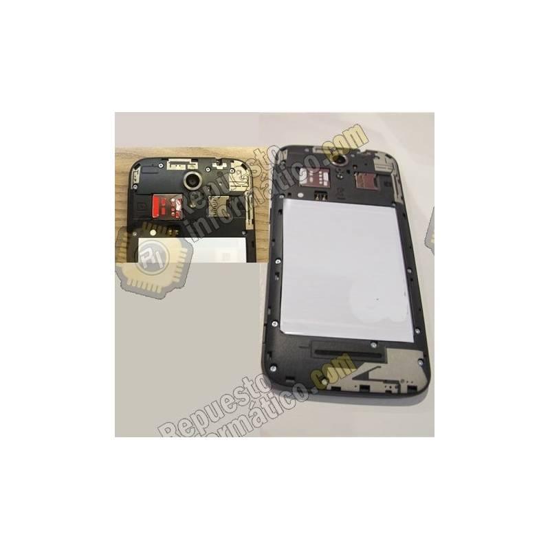 Carcasa intermedia Vodafone Smart 4 Power + lentilla camara trasera