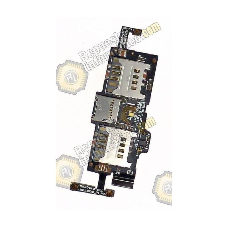 Flex Dual Sim Lector Micro SD Wiko DARKNIGHT
